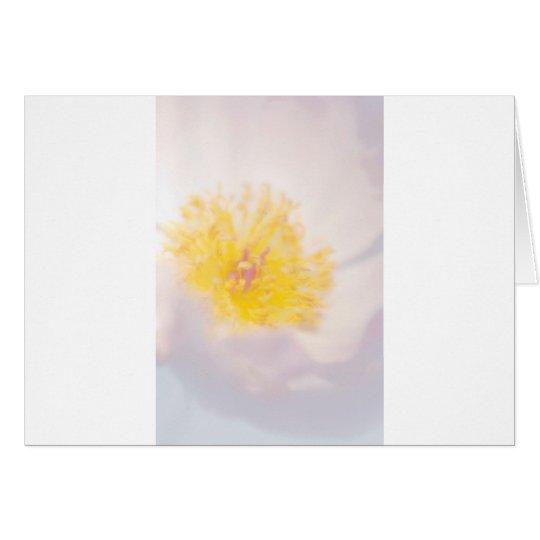 Peony ligero con el primer amarillo de la flor de tarjeta de felicitación