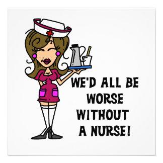 Peor sin una enfermera invitación personalizada