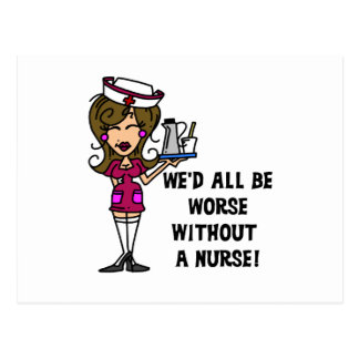 Peor sin una enfermera tarjeta postal