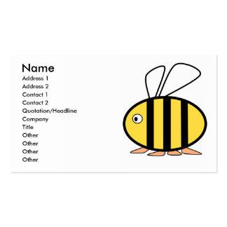 Pequeña abeja linda tarjetas de visita