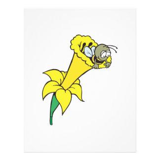 pequeña abeja tonta en narciso folleto 21,6 x 28 cm
