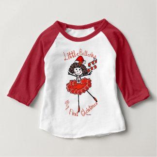 Pequeña bailarina - mi primer navidad camiseta de bebé