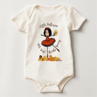 Pequeña bailarina - mi primera acción de gracias body para bebé