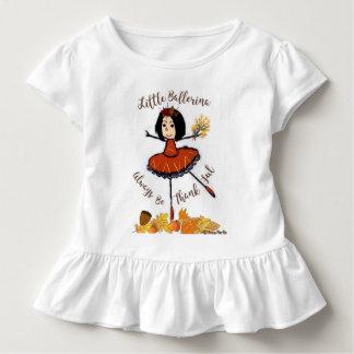 Pequeña bailarina - sea siempre agradecido camiseta de bebé
