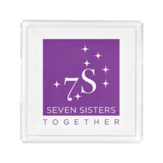 Pequeña bandeja de acrílico de siete hermanas