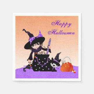 Pequeña bruja linda, Halloween Servilletas De Papel