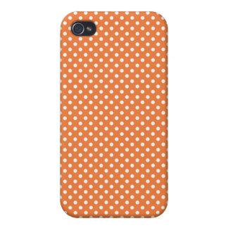 Pequeña caja color de rosa coralina de Iphone 4 de iPhone 4 Coberturas
