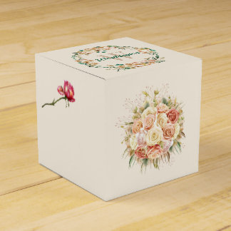 Pequeña caja de regalo floral sofisticada