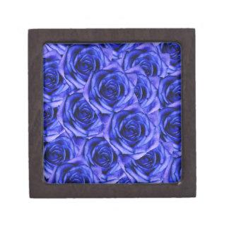 Pequeña caja del recuerdo de los rosas azules