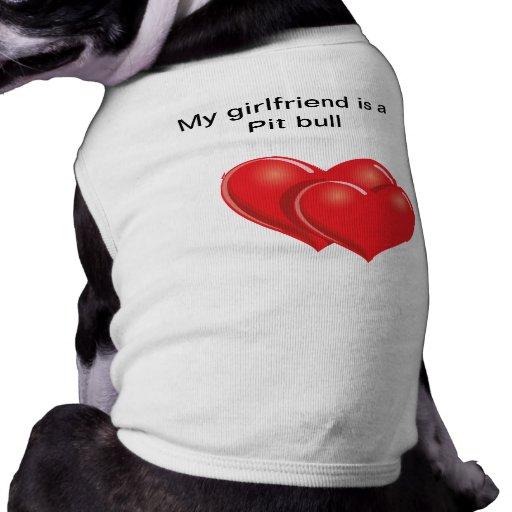 Pequeña camisa del perro (PITBULL) Camiseta De Perrito
