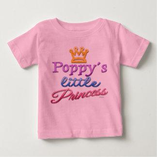 Pequeña camiseta de la princesa bebé de la amapola
