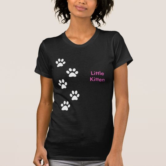Pequeña camiseta de las señoras del gatito