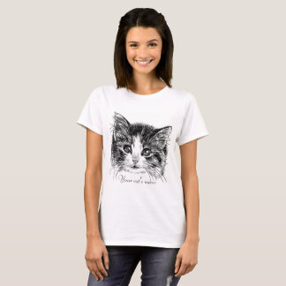 Pequeña camiseta dulce del gatito