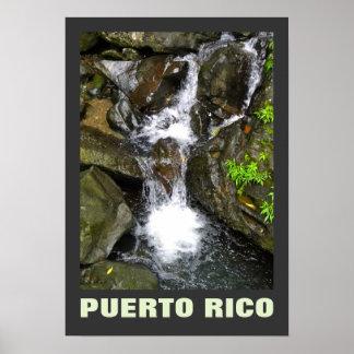 Pequeña cascada Puerto Rico del EL Yunque Póster