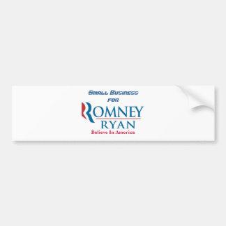 Pequeña empresa para Romney Ryan Pegatina Para Coche