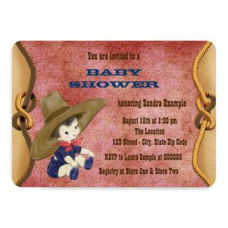 Pequeña fiesta de bienvenida al bebé del vaquero invitación 11,4 x 15,8 cm