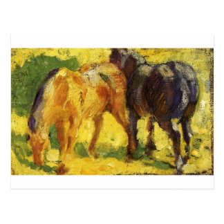 Pequeña imagen del caballo de Franz Marc Postal