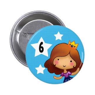 Pequeña insignia de princesa Birthday Chapa Redonda 5 Cm