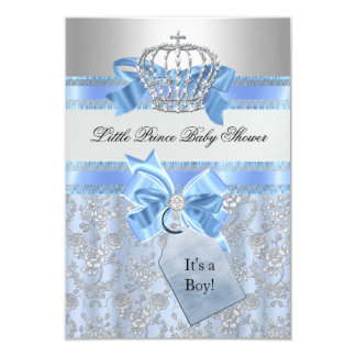 Pequeña invitación azul de la fiesta de bienvenida