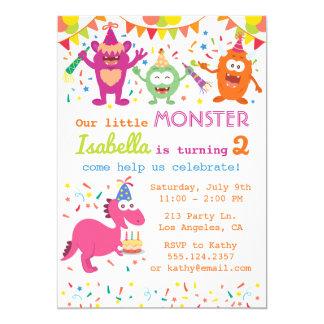 Pequeña invitación de la fiesta de cumpleaños del