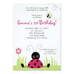 pequeña invitación del cumpleaños de la primavera invitación 12,7 x 17,8 cm