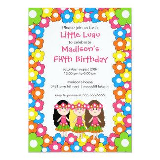 Pequeña invitación del cumpleaños del fiesta de invitación 12,7 x 17,8 cm