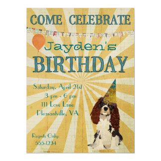 PEQUEÑA invitación del cumpleaños del PERRO DE
