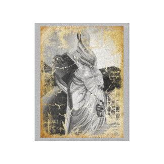 pequeña lectura de la mujer impresión en lienzo