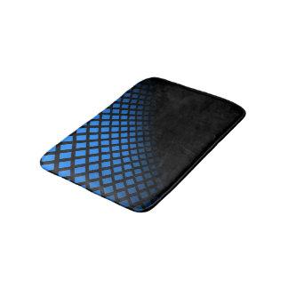 Pequeña manta azul y negra del baño
