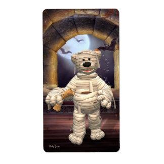 Pequeña momia de los osos pequeños etiquetas de envío
