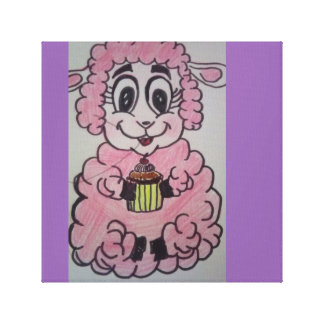 Pequeña oveja codiciosa impresión en lienzo