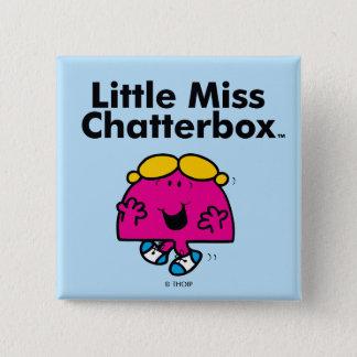 Pequeña pequeña Srta. Chatterbox de la Srta. el | Chapa Cuadrada