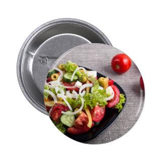 Pequeña placa de la ensalada natural de verduras chapa redonda de 5 cm