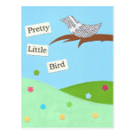 Pequeña postal bonita del pájaro