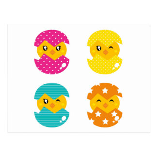 Pequeña postal de los huevos para incubar del