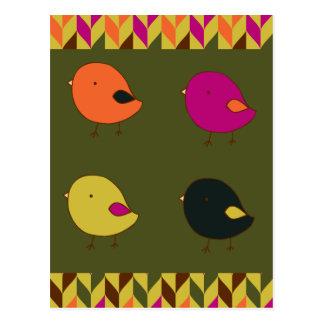 Pequeña postal de los polluelos