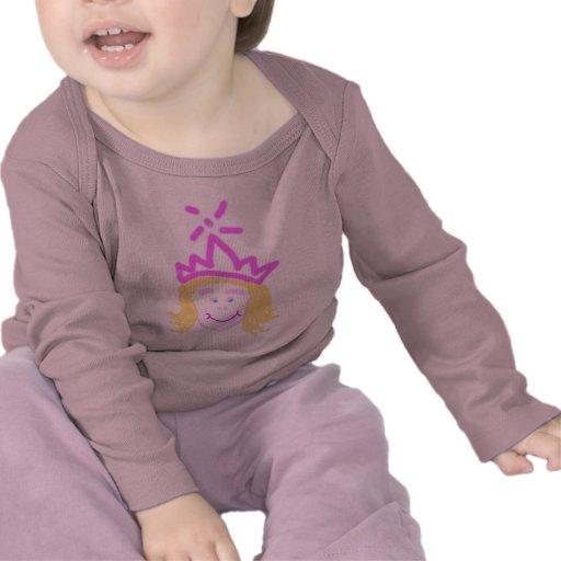 Pequeña princesa angelical - manga larga infantil camiseta