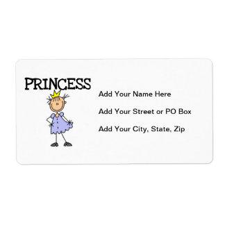 Pequeña princesa etiquetas de envío