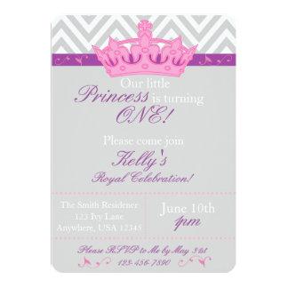 Pequeña princesa First Birthday Invitation Invitación 12,7 X 17,8 Cm
