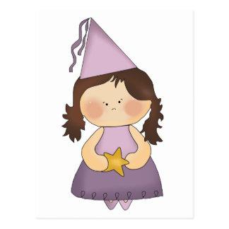 Pequeña princesa púrpura postal