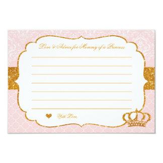 Pequeña princesa real Pink y tarjeta del consejo