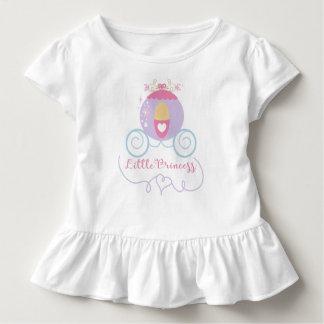 Pequeña princesa Toddler Ruffle Tee Camiseta De Bebé