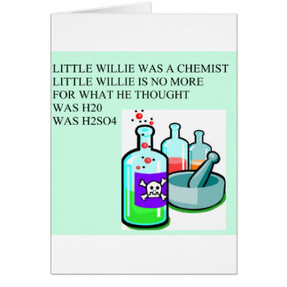 pequeña rima de willie de la química tarjeta de felicitación