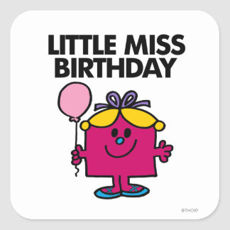 Pequeña Srta. Birthday Classic 1 Colcomania Cuadrada