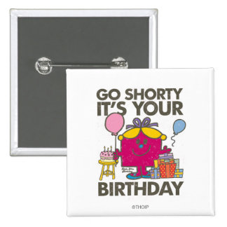 Pequeña Srta. Birthday el | va la versión 5 de Chapa Cuadrada