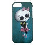 Pequeña Srta. Death - belleza de Halloween Funda iPhone 7