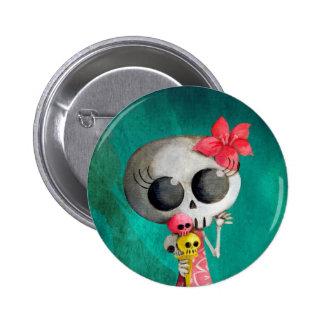 Pequeña Srta. Death con helado de Halloween Chapa Redonda De 5 Cm