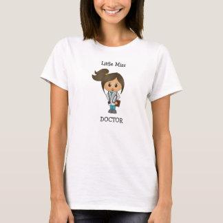Pequeña Srta. doctor - Brunette lindo Camiseta