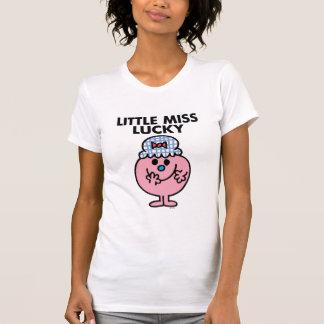 Pequeña Srta. Lucky Hiding Her Mouth Camisetas
