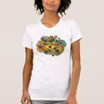 Pequeña Srta. Sunshine Floral Swirls Camiseta